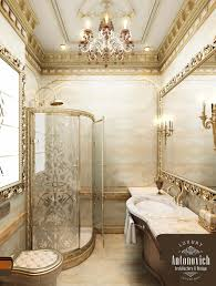 gold of leaves from antonovich design bathrooms from antonovich
