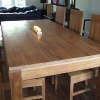 furniture brown log wood dining table with chair using brown
