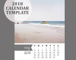 2018 calendar template 5x7 size loose sheet 12 month