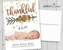 birth announcement thankful birth announcement card photo card