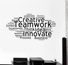 vinyl wall decal teamwork cloud words office decoration stickers vinyl wall decal teamwork cloud words office decoration stickers