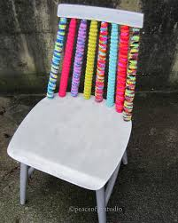 How To Paint Wooden Chairs by Peaceofpi Studio Diy Chair Makeover With Crochet And Paint