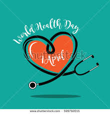 wold health day stethoscope design stock vector 599792015