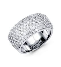 gold pave rings images 18k white gold fancy round diamond ring pave mounting diamond jpg