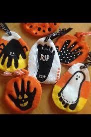 salt dough handprint and footprint pumpkin keepsakes crafty