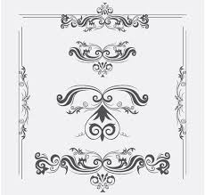 vector ornaments with swirls vector