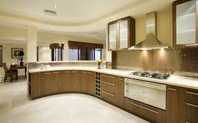 dark brown wooden kitchen cabinet and cream granite kitchen