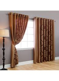 Width Of Curtains For Windows Wide Width Damask Jacquard Grommet Curtain 84 L Pair Brown