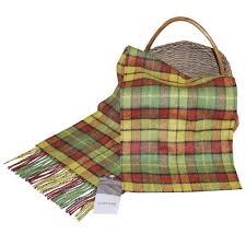 irish tartan wool scarf