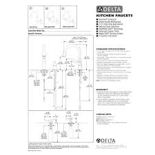 Delta Kitchen Faucets Installation Delta Faucet 955 Dst Victorian Polished Chrome Pullout Spray
