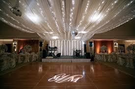 Chiffon Ceiling Draping Photo Of Dance Floor And Stage At Reception Tan Chiffon Drapes