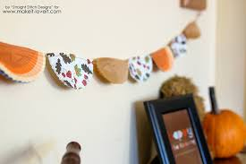 thanksgiving bunting banner from cupcake liners make it and
