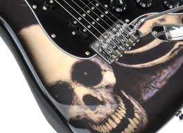 rocktile pro st60 sk electric guitar with skull accessories