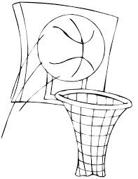 basketball and basket in nba coloring page basketball and basket