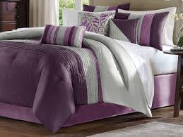 Beautiful Purple Motifs Gray And Purple Bedding Product Choices Homesfeed