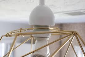 Wire Pendant Light Diy Geometric Pendant Light Erin Spain