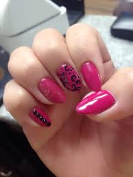 summer nails almond shaped black studs design nails my