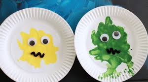 paper plate paint splat monster crafts for kids pbs parents pbs