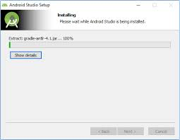 android studio install and install android automation testing hub