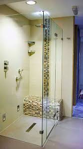 Bathroom Shower Trays by A Frameless Glass Shower Enclosure With Ultra Low Profile Shower