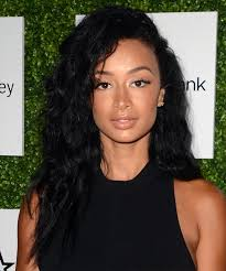 draya michele long curly casual hairstyle black