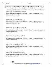 dilations and scale factors lesson math worksheets land