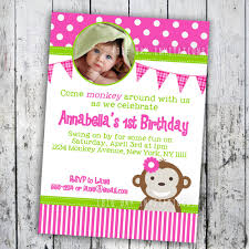 2nd Birthday Invitation Card 1st Birthday Monkey Invitations Vertabox Com