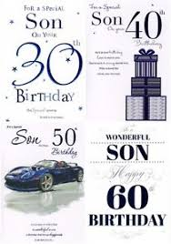 son 30th 40th 50th or 60th birthday card page insert verse icg
