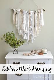 Make Wall Decorations At Home by Ribbon Wall Hanging An Easy Diy Project That Will Make A Fabulous