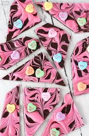 heart chocolates conversation heart chocolate bark and sugar