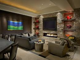 Ceiling Ls For Living Room Contemporary Living Room With High Ceiling Fireplace