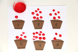 fun apple fingerprint math activity for building fine motor skills