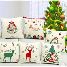 new year xmas home decor cotton cushion cover throw sofa pillow 17