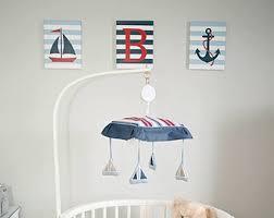 Nautical Themed Baby Rooms - nautical nursery wall decor baby boy nautical 8x10