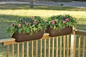 portable deck railing flower boxes of deck flower box designs
