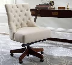 linen desk chair tufted swivel desk chair pottery barn