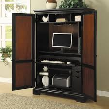 Computer Desk In Living Room Ideas Cherry Wood Computer Desk Armoire Symbol Of Elegance U2014 All Home