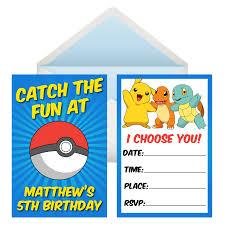 home decor parties canada pokemon go personalized invitations 8 pk party supplies canada