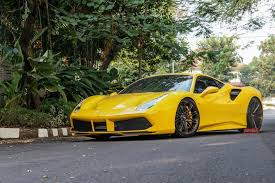 ferrari gold and black vossen wheels photo gallery