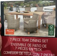 Dining Room Sets Costco Sunbrella 7 Piece Teak Dining Set Costco Weekender