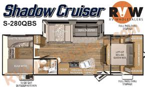 Shadow Cruiser Floor Plans 2016 Cruiser Rv Shadow Cruiser S 280qbs Travel Trailer The Real