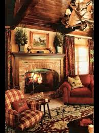 Warm Wood Paneled Country Cottage Cabin Country Family Room - Country family room