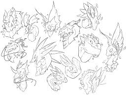 free dragon portrait lines to color use creative corner flight