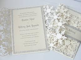 winter wedding invitations winter wedding invitation snowflake wedding invite