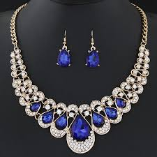 wedding necklace earrings images Crystal pendant necklace earrings set wedding jewelry free jpg