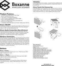boxanne bluetooth speaker user manual boxanne manual 4 29 16
