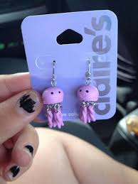 claires earrings i want to buy these and paint the tentacles i would wear them all