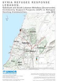 Lebanon World Map by Document Lebanon Csp Map 30 June 2013 Community Support