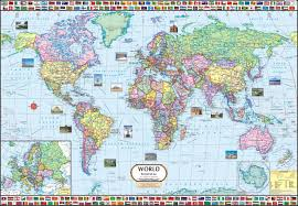 World Map 1800 by World Map Political Wall Chart Paper Print Maps Posters In