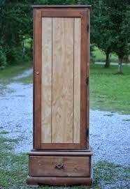 Wood Gun Cabinet Old Gun Cabinet Makeover Hometalk